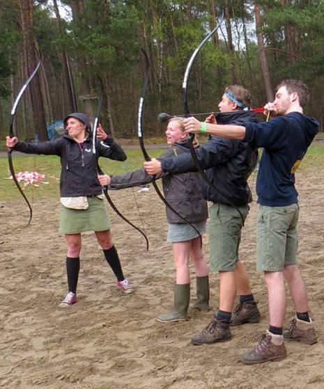 boogschietne met scouts